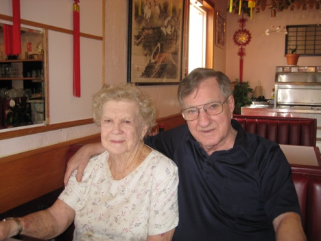 Frank and Lydia at Beijing Chinese Restaurant in Glen Ellyn